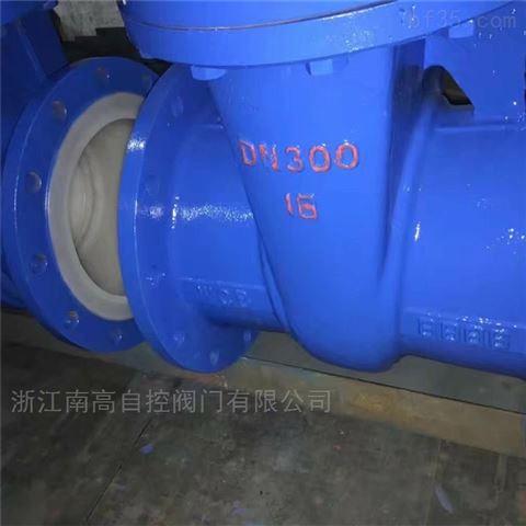 衬氟闸阀 Z41F46-10C 法兰软密封铸钢材质
