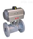 氣-動PVC法蘭球閥