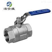 304不锈钢两片式球阀DN32沧州厂家海仕维品牌直销